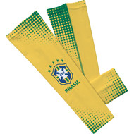 CBF Brasil Sleefs Compression Sleeves l- Yellow/ Large Pair