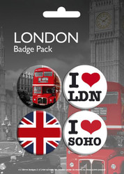 LONDON Badge 4 Pack