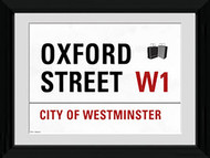 LONDON Framed Photos- Oxford St. Street Sign