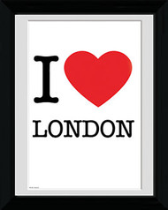 "LONDON Framed Photos- I ""Heart"" London  Sign"