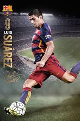 BARCELONA FC, Suarez Official Soccer Action Poster 2015/16-#323
