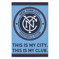 MLS Licensed New York City FC Crest-#60
