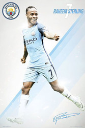 MANCHESTER CITY STERLING Official Soccer Player Poster 2016/17-#396