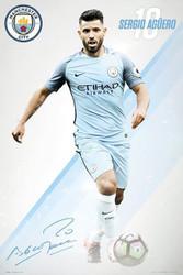 MANCHESTER CITY AGUERO Official Soccer Player Poster 2016/17-#378
