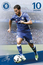 CHELSEA HARZARD Official Soccer Player Poster 2016/17-#386
