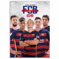 Barcelona FC Official Team Calendar 2016 (FRONT) - Buy Online SoccerMadUSA.com