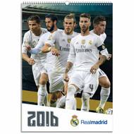 Real Madrid FC Official Team Calendar 2016 (FRONT) - Buy Online SoccerMadUSA.com