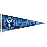 "NEW YORK CITY  FC Premium Style Fan Pennant 12""x 30"""