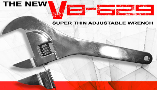 V8 629 Super Thin Adjustable Wrench