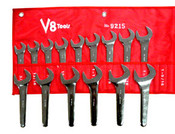 V8 Tools 9215 15pc Jumbo SAE Service Wrench Set