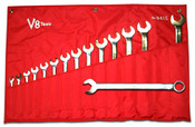 V8 9415 15 Piece Long Pattern Combination Wrench Set (SAE)