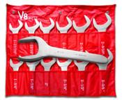 V8 9212 12pc Jumbo Service Wrench Set Updated with New Zinc Finish