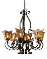 Vetraio, 6 Light Chandelier