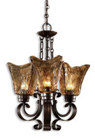Vetraio, 3 Light Chandelier