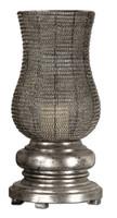 Rickma, Contemporary Silver Woven Metal Globe Candle Holder
