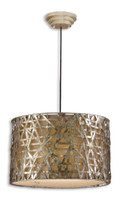 Alita Champagne Hanging Metal Pendant Light