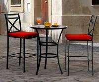 san michele 3 pc patio furniture bar set (39 cushion colors)