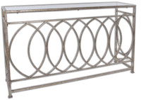 Aniya Glass Top Console Table