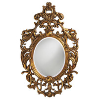 Dorsiere Oval Framed Wall Mirror