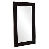Devon Rectangular Black Framed Floor Mirror
