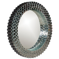 Ariel Round Framed Wall Mirror