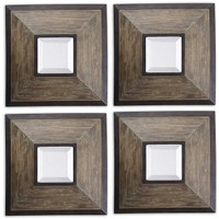 Fendrel Squares Wood Mirror Set/4