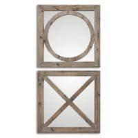 Baci E Abbracci, Wooden Mirrors S/2