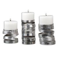 Tamaki Silver Candleholders, S/3
