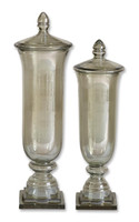 Gilli Glass Decorative Containers, Set/2