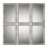 Alcona Antiqued Silver Mirrors S/3
