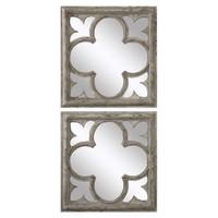 Vellauni Quatrefoil Mirrors S/2