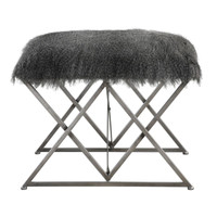Astairess Fur Small Bench
