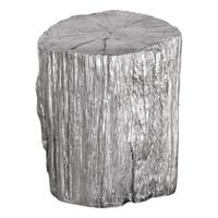 Cambium Silver Tree Stump Stool