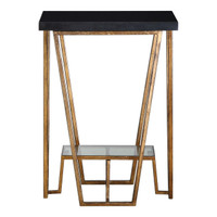 Agnes Black Granite Accent Table