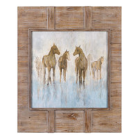 Headed To The Barn Horse Print