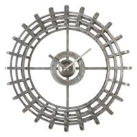 Alphonse Silver Industrial Wall Clock