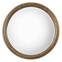 Spera Round Gold Mirror