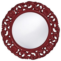 Glendale Mirror - Glossy Burgundy