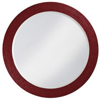 Lancelot Mirror - Glossy Burgundy