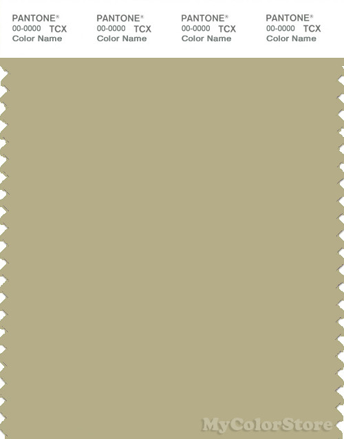 PANTONE SMART 15-0522X Color Swatch Card, Pale Olive Green