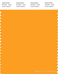 PANTONE SMART 15-1058X Color Swatch Card, Radiant Yellow