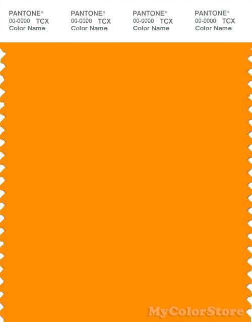PANTONE SMART 15 1164X Color Swatch Card Bright Marigold