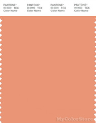 PANTONE SMART 15-1334X Color Swatch Card, Shell Coral