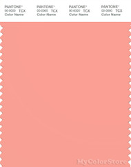 PANTONE SMART 15-1423X Color Swatch Card, Peach Amber