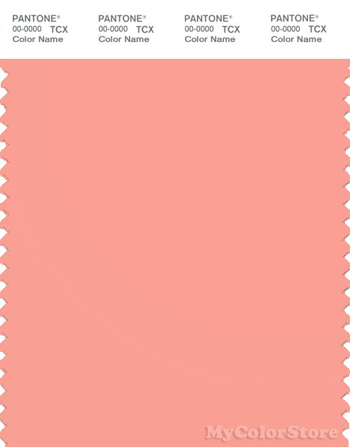 Pantone Smart 15 1423 Tcx Color Swatch Card Pantone Peach Amber