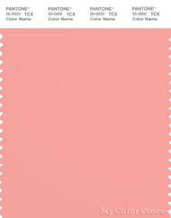 PANTONE SMART 15-1621X Color Swatch Card, Candlelight Peach