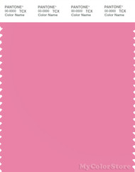 PANTONE SMART 15-2217X Color Swatch Card, Aurora Pink