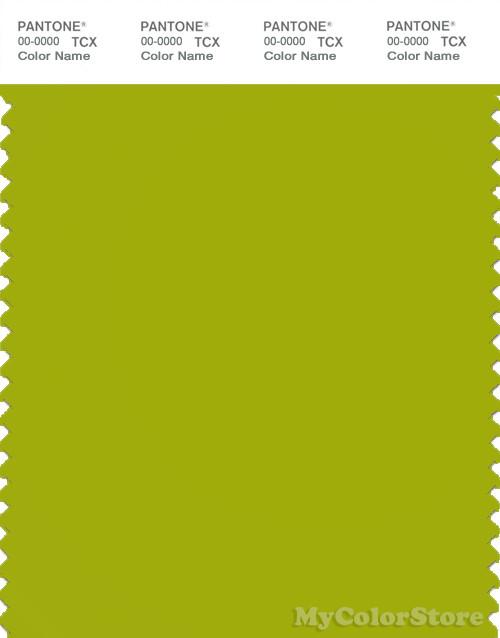 PANTONE SMART 16-0435X Color Swatch Card, Dark Citron