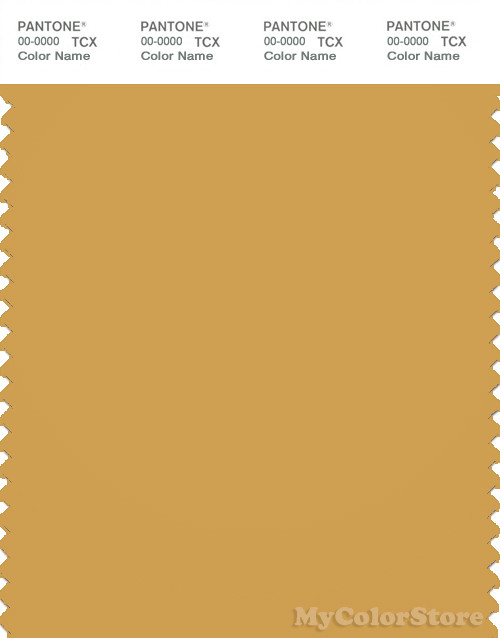 PANTONE SMART 16 0947X Color Swatch Card Bright Gold