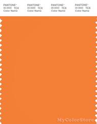 PANTONE SMART 16-1257X Color Swatch Card, Sun Orange